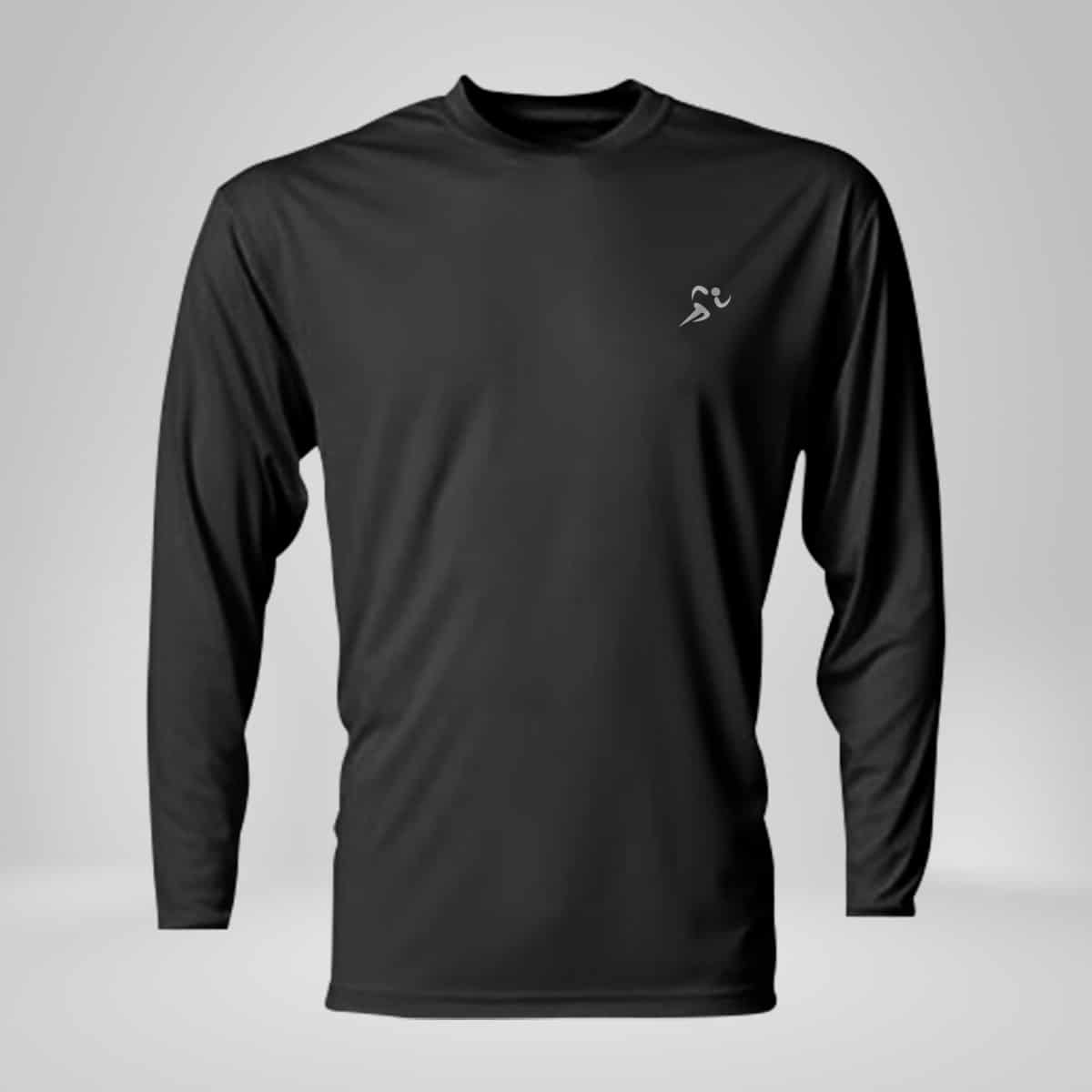 copper fabric long sleeve athletic shirt