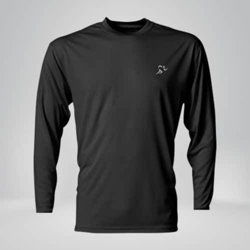 copper fabric long sleeve athletic shirt black