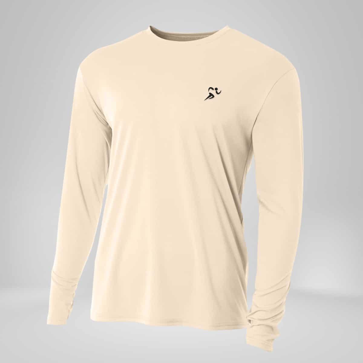 copper fabric long sleeve shirt white