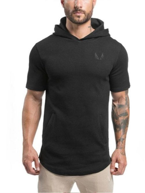 Hooded_Tee_Short_Sleeve_Premium_Cotton_black_men