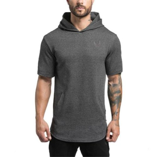 Hooded_Tee_Short_Sleeve_Premium_Cotton_men_top_black_tee
