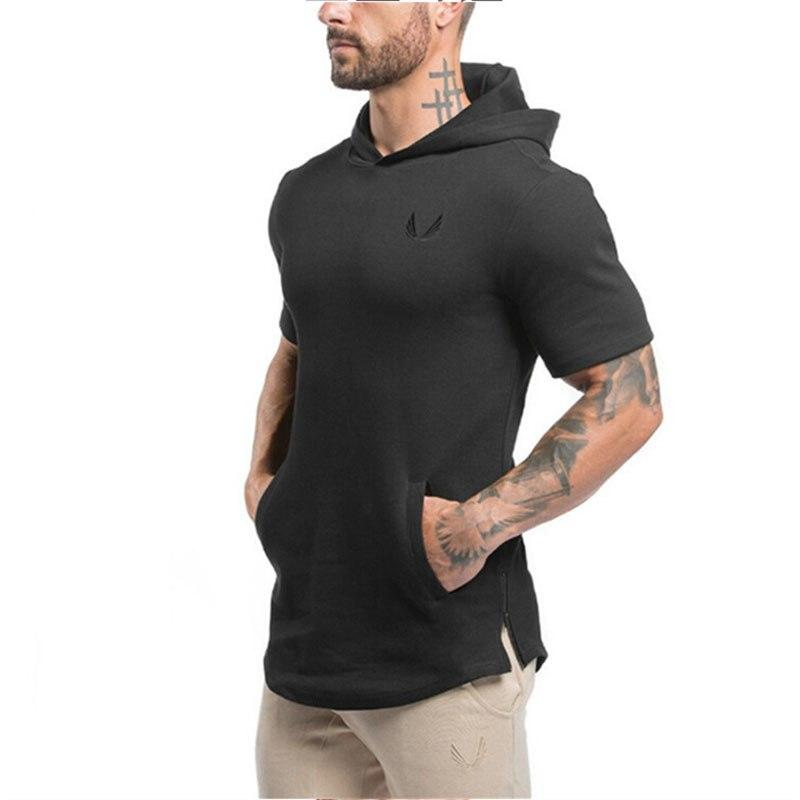 Hooded_Tee_Short_Sleeve_Premium_Cotton_mesn_black_top