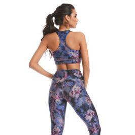 Night Flower Top Spectral Body Yoga Bra Top