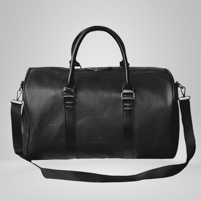 Pebbled Leather Weekend Bag