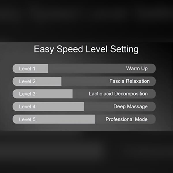 Percussion massager settings