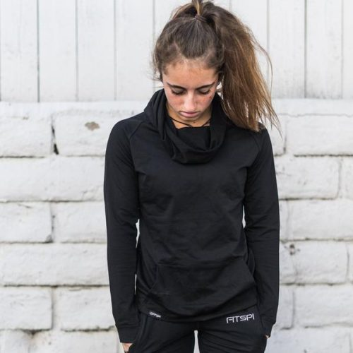 Ruffle_Neck_Top_Fitspi_Funnel_Neck_Hoodie