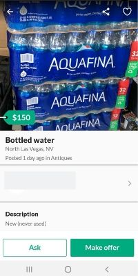 bottled water price gouging