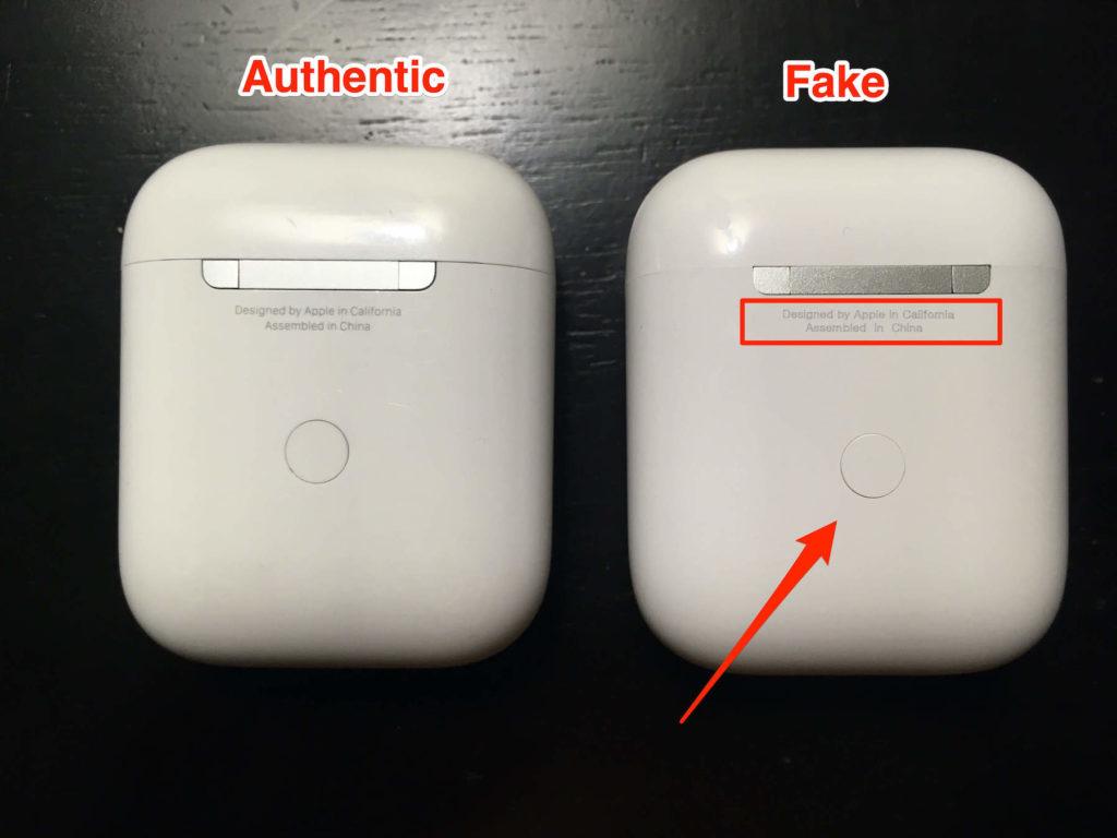 poor casing fake airpods