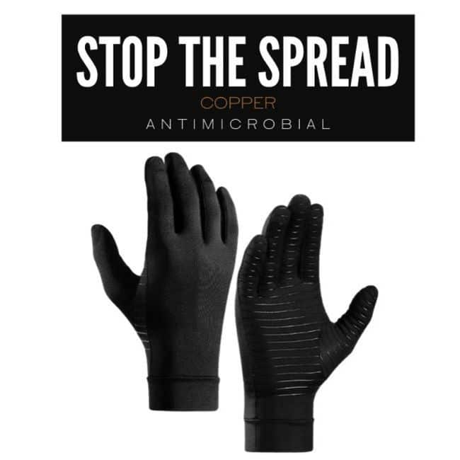 copper compression gloves