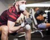 gym mask and glove