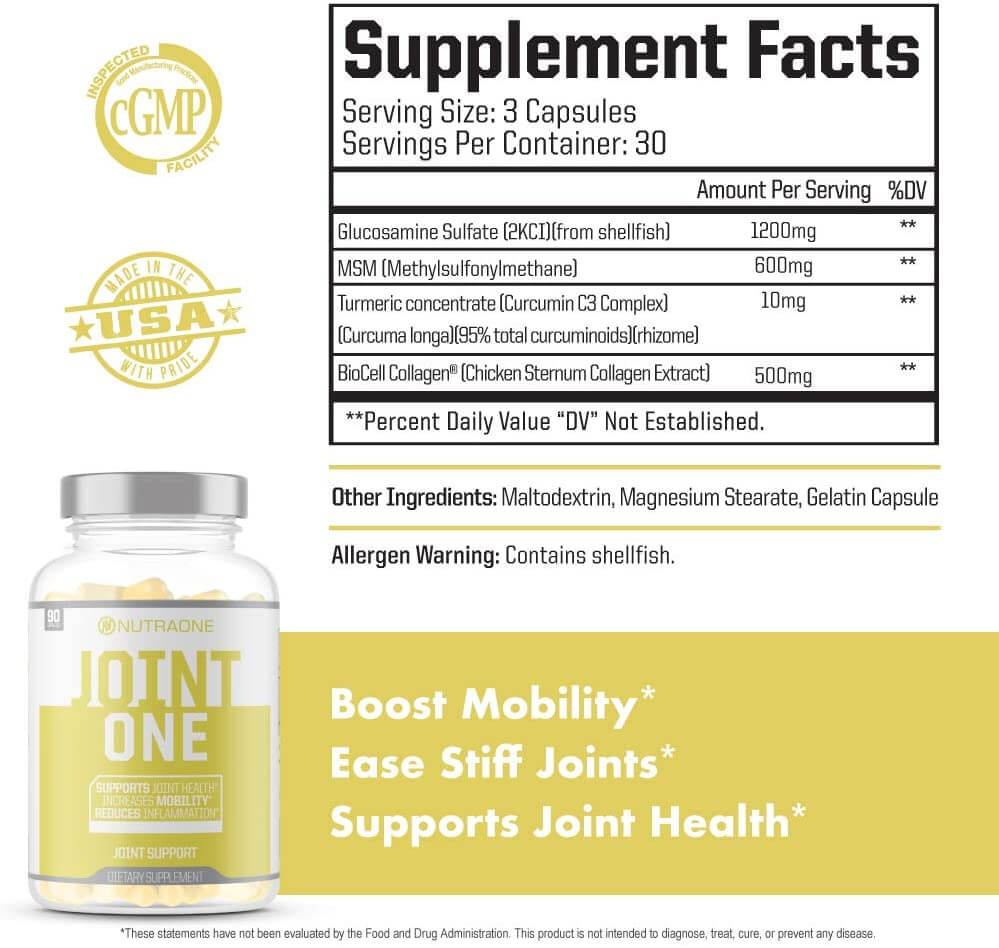 joint one nutritional facts