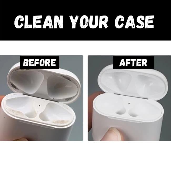 clean airpod charging case