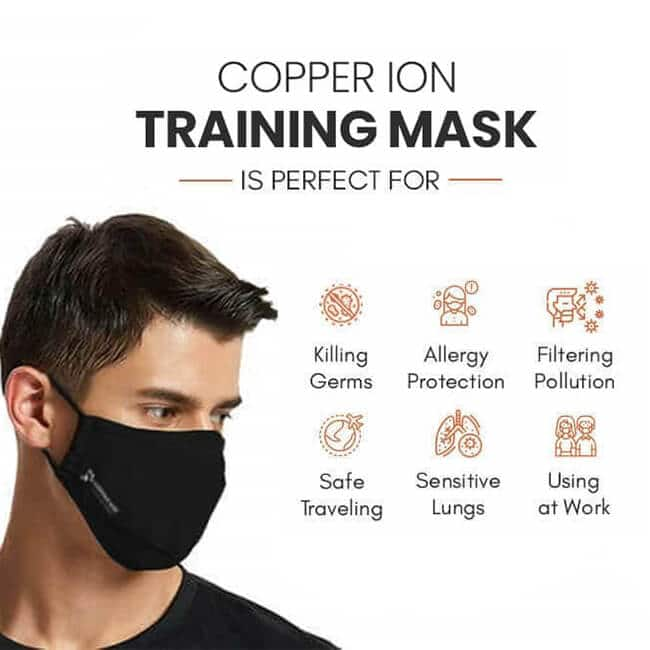 copper ion training mask
