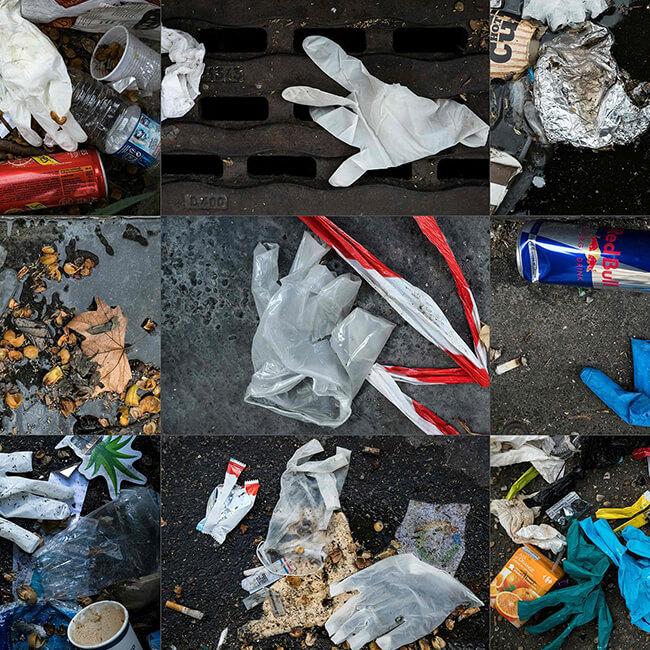 gloves litter ppe