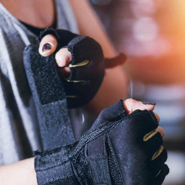you should use copper workout gloves