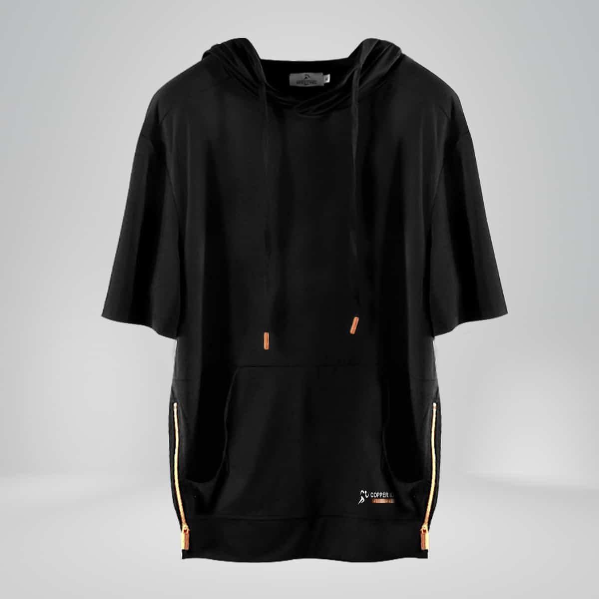 copper fabric hooded shirt