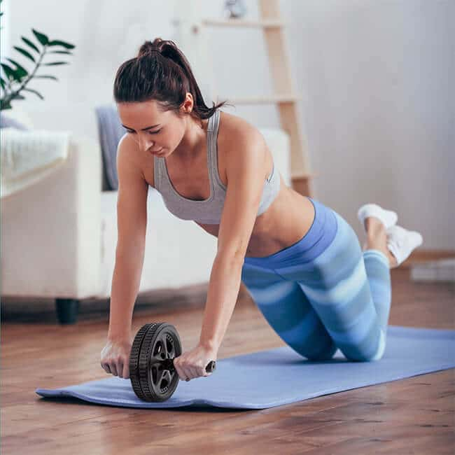 ab roller hurting knees