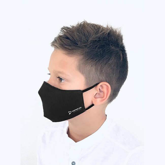 antiviral face mask for kids black