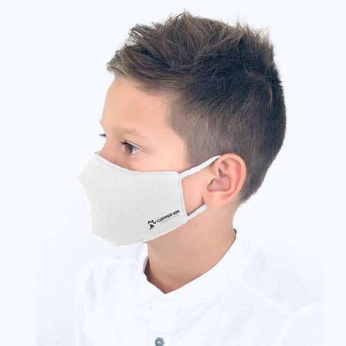 antiviral face mask for kids white