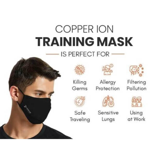 Copper Ion Fabric Face Mask