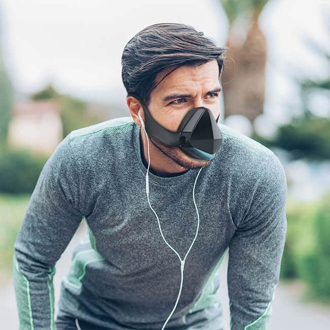 exercise face mask with fan