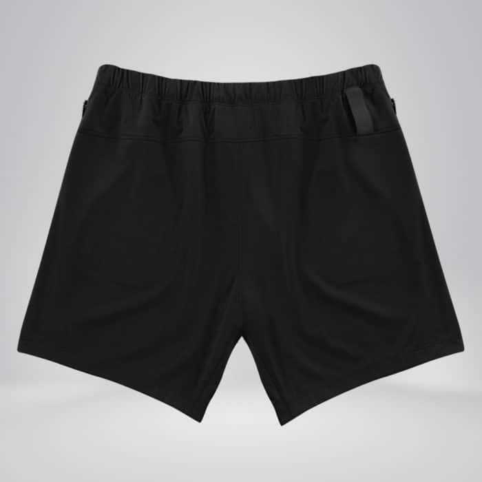 black copper fabric shorts