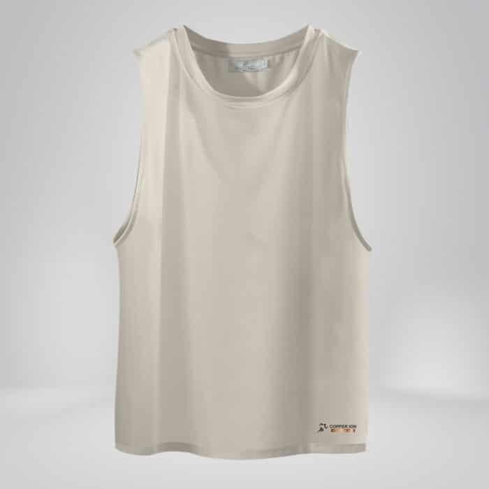 Copper Fabric Mens Tank Top White