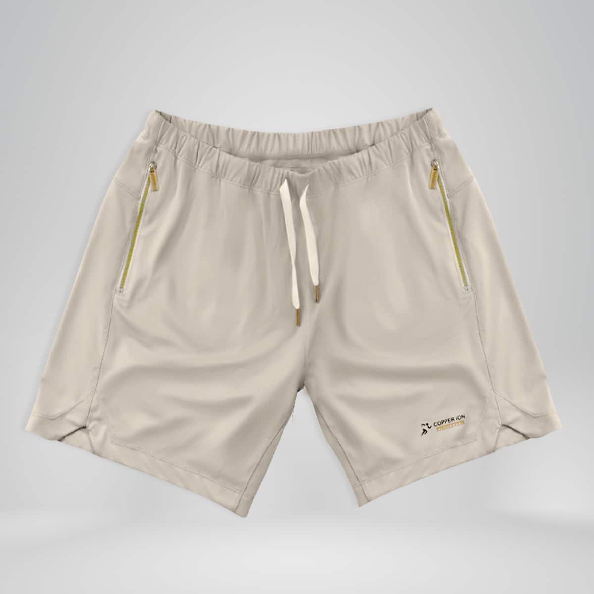 Copper Fabric Shorts White