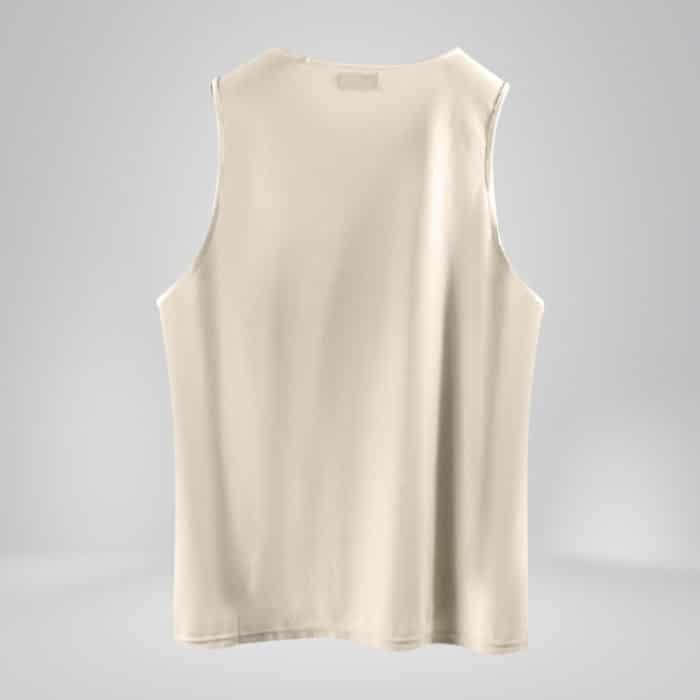 copper fabric mens tank top cream white