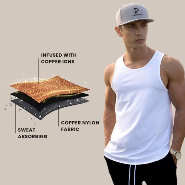 Copper Infused Tank Top Mens