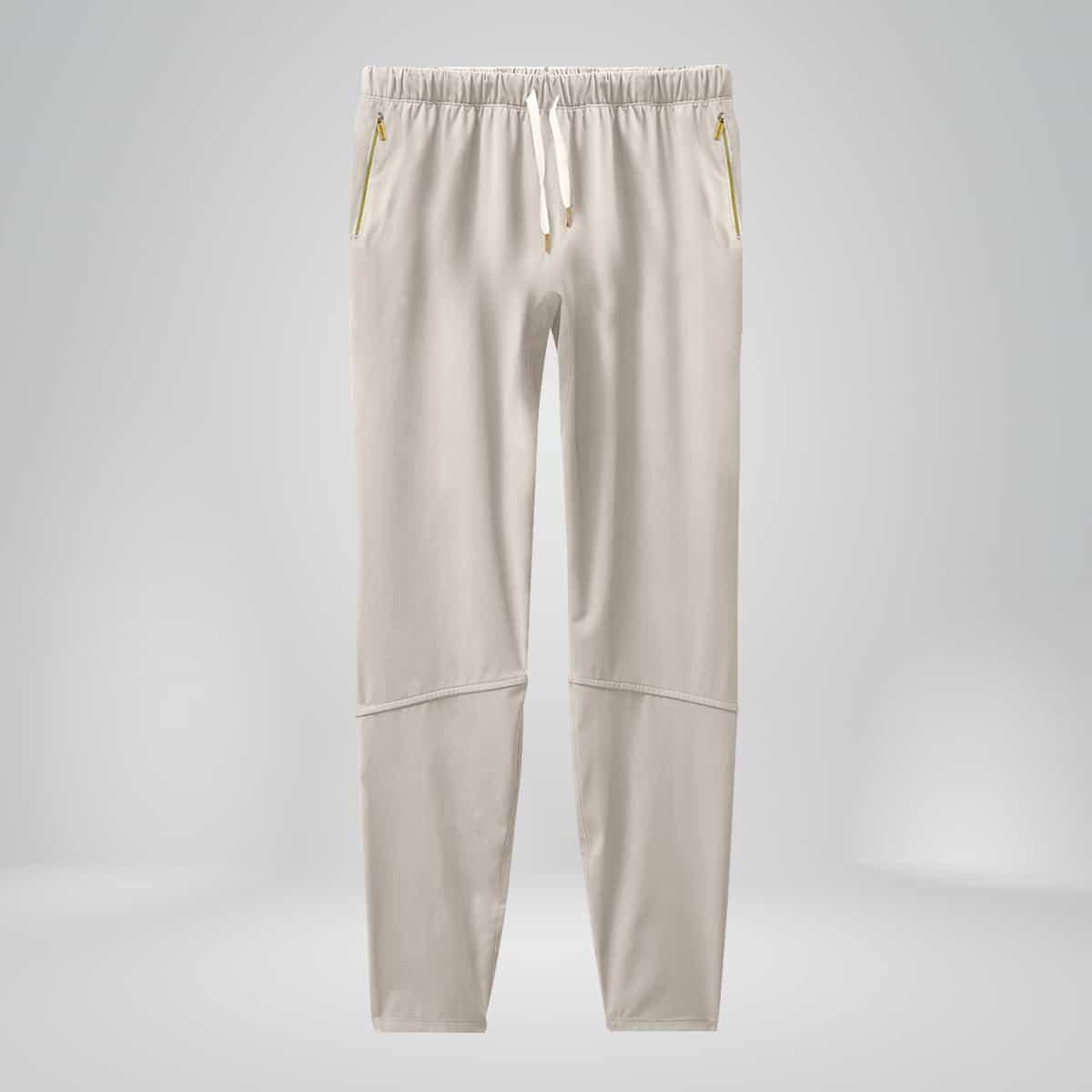 mens copper fabric joggers white