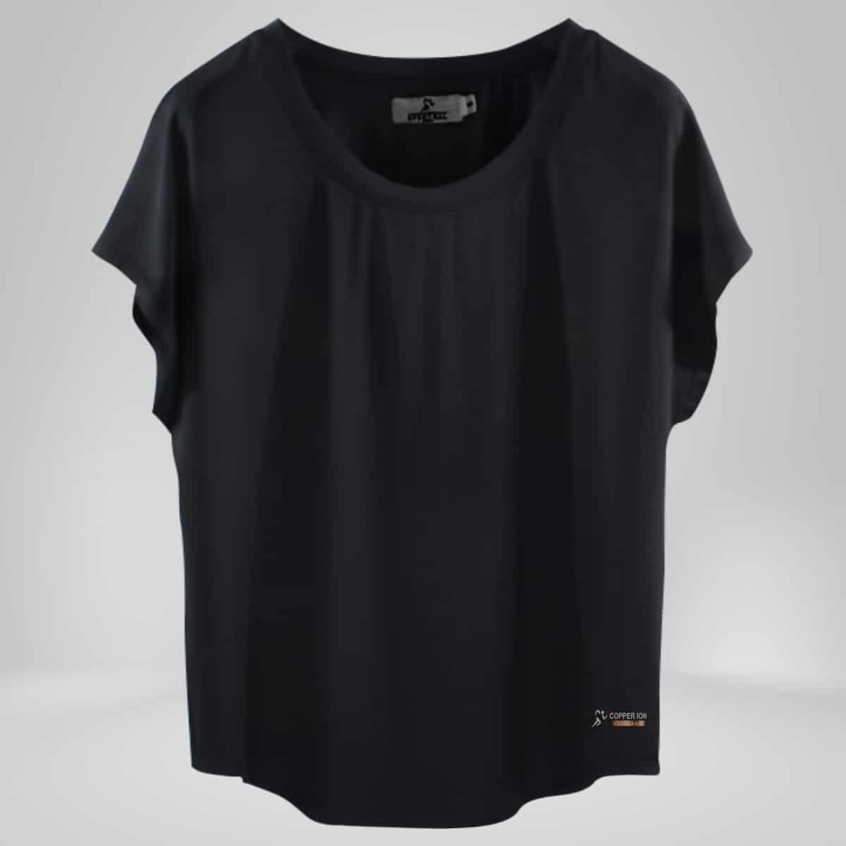 Women's Copper Fabric Black Shirt