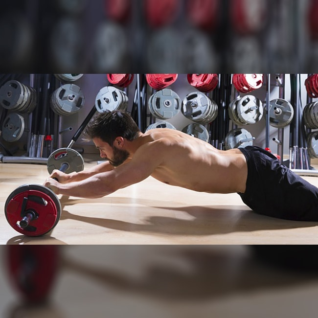 Ab Roller Exercise Using A Barbell