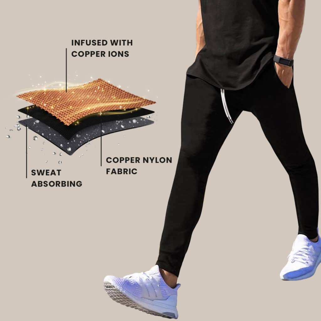 copper fabric jogger technology
