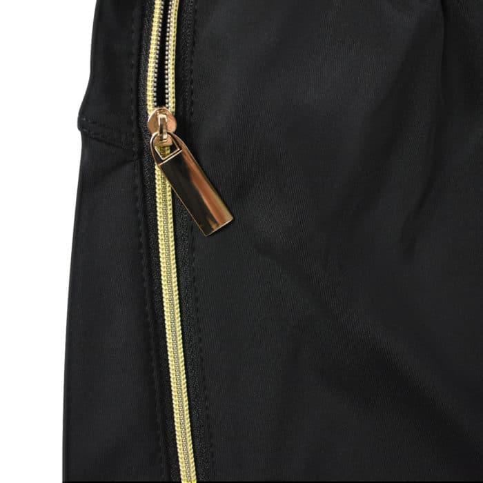 copper fabric joggers zipper pocket
