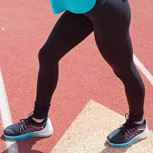 copper fabric leggings track and field