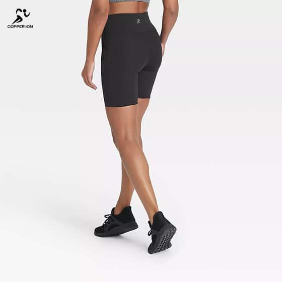 copper fabric shorts women