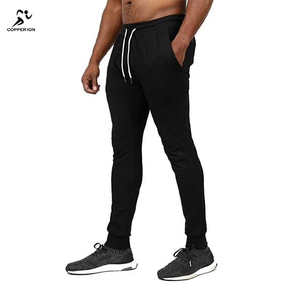 copper infused joggers black