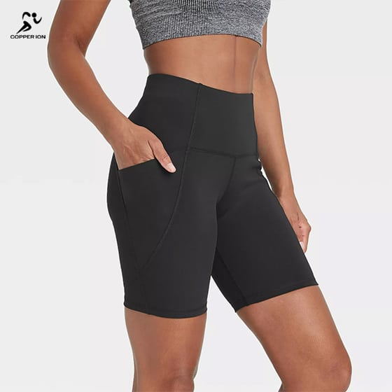copper infused shorts womens