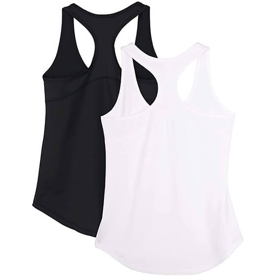 copper infused tank top black and white