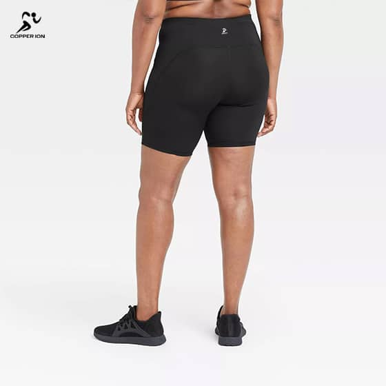 copper infused yoga shorts women