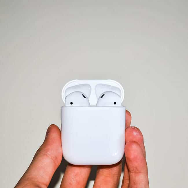 hand sanitizer to clean your airpods