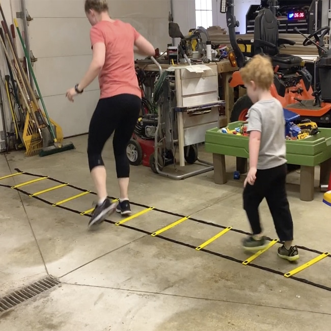 Plyometric Ladder Drills With Your Kids