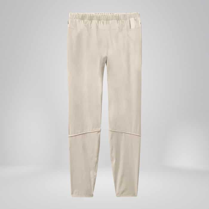 White copper fabric joggers back