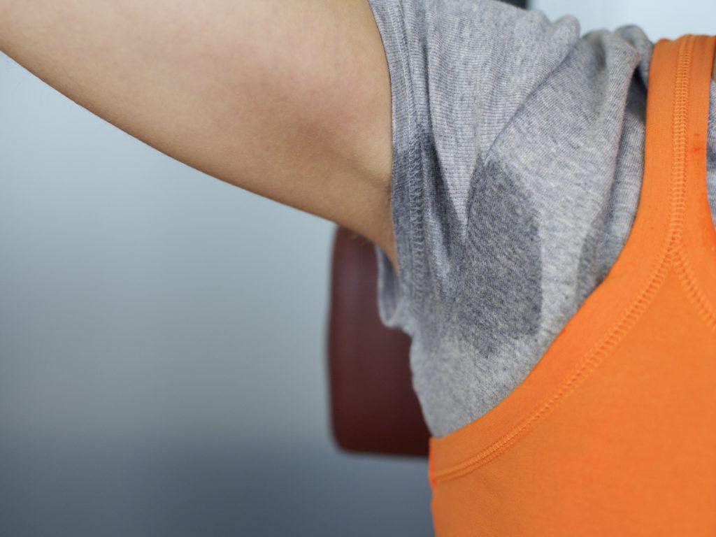 sweaty cotton gym shirt