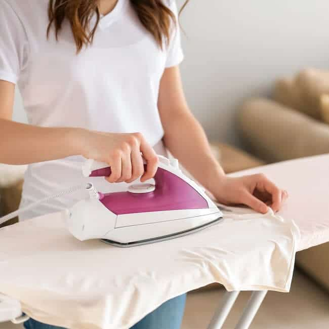 Ironing Copper Fabric