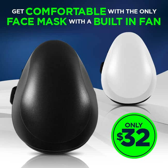 Spectral Body Comfortable Face Mask With Built In Fan